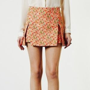 TOPSHOP Origami Pleated Pink Floral Mini Skirt 4